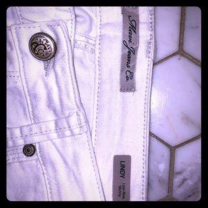 MAVI brand WHITE low rise skinny LINDY jeans